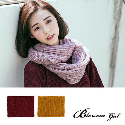 Blossom Gal 百搭甜甜圈雜訊點點寬版針織圍脖(共10色)