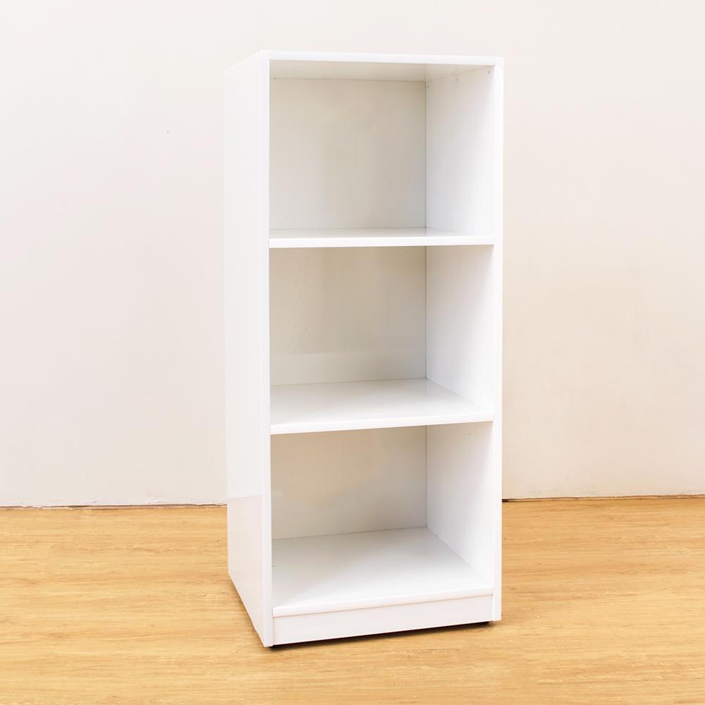Bernice-防潮防蛀塑鋼白色三格收納櫃-43x40x103cm