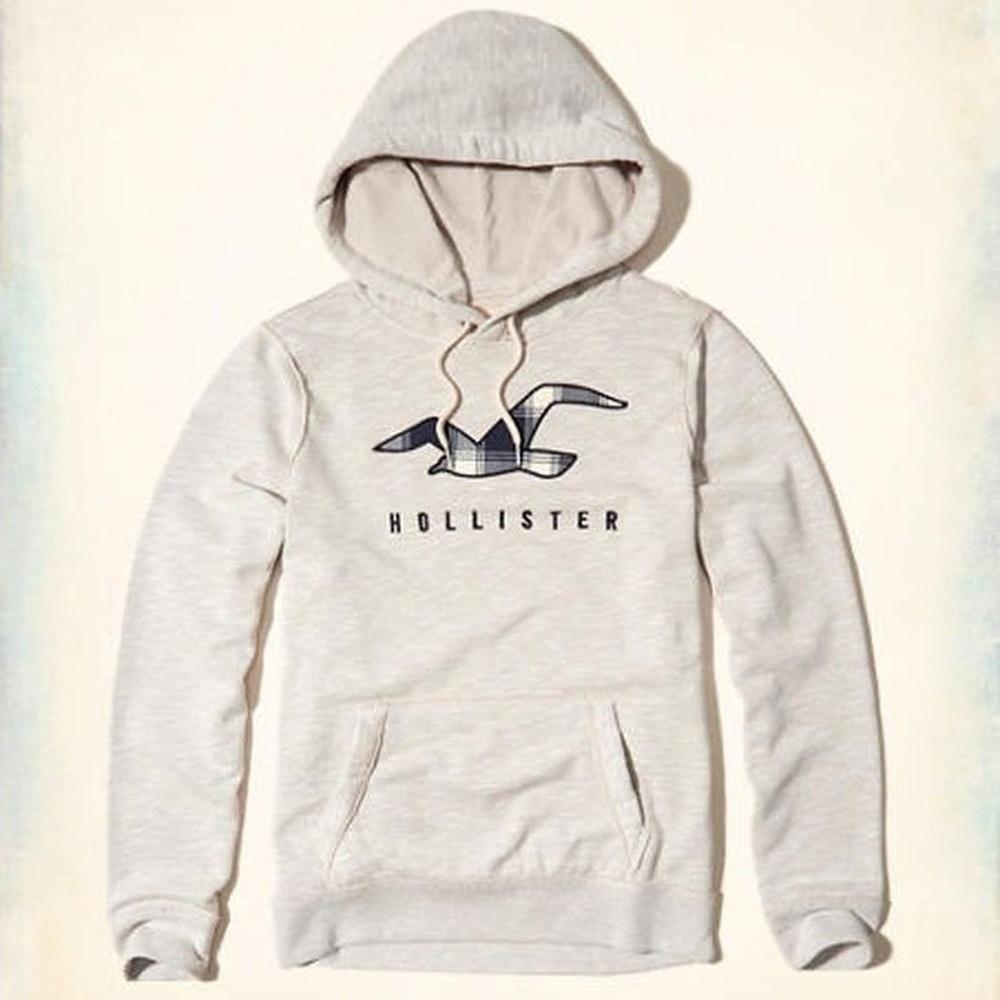 Hollister HCO 長袖 文字 連帽T 白色 269