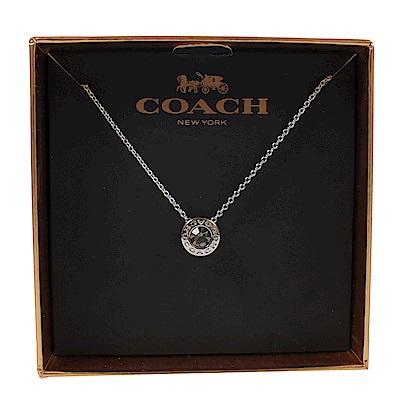COACH 經典LOGO簡約式項鍊組(銀色)