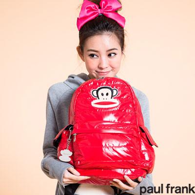 paul frank- 羽絨外套系列-後背包(中)-紅色