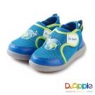 Dr. Apple 機能童鞋 環遊世界吧雙耳式黏扣帶童鞋款 水藍