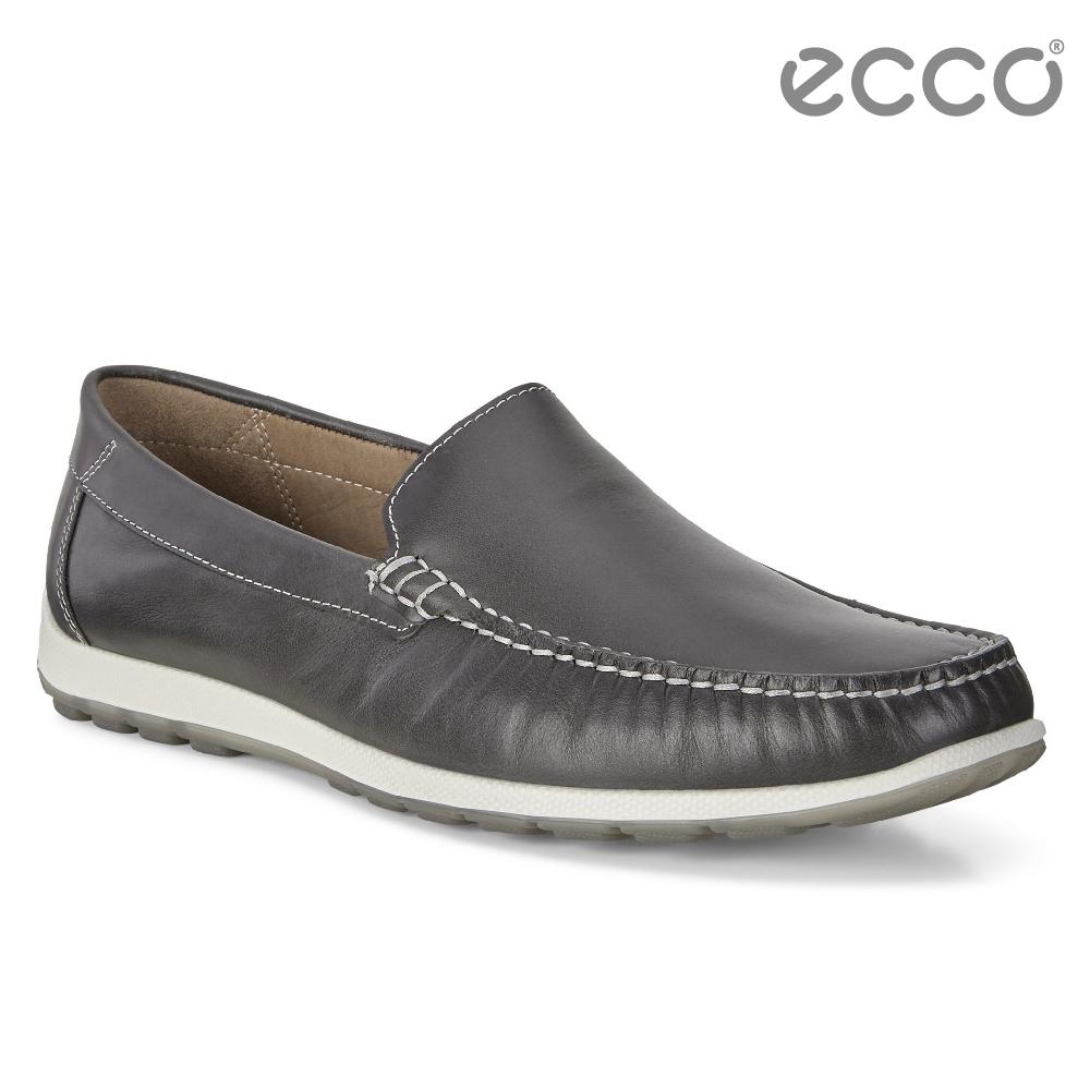 ECCO DIP MOC 男 簡約輕便莫卡辛鞋-深灰