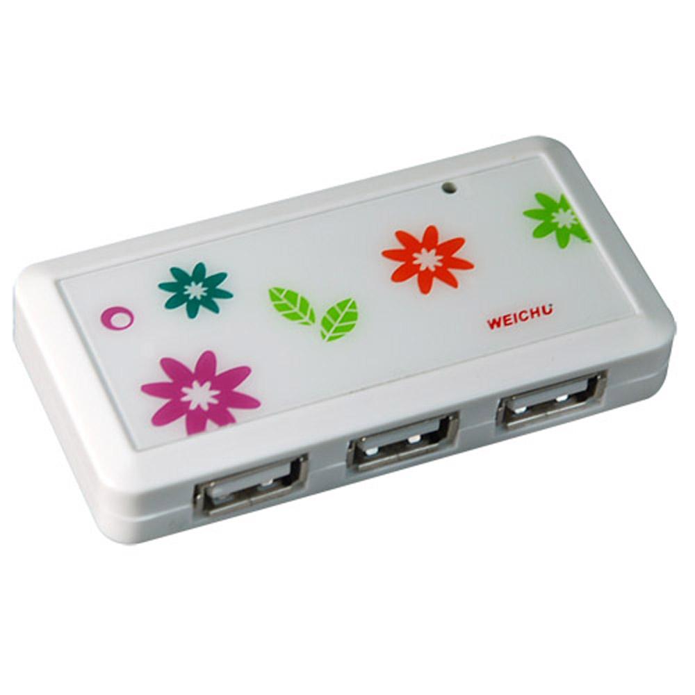 威聚科技 WEICHU星花戀 HU-510W USB2.0 HUB 集線器