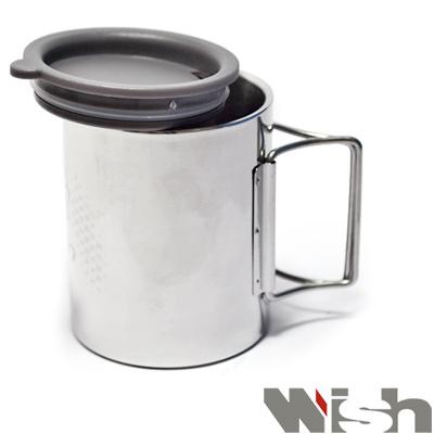 迪伯特DIBOTE 攜帶式不鏽鋼露營杯/野營杯(大)