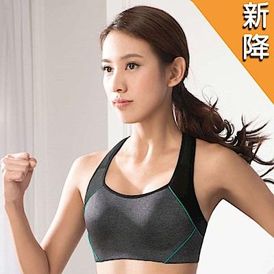 華歌爾 TRAINING 系列 A-B 罩杯專業運動胸罩 (競技藍)