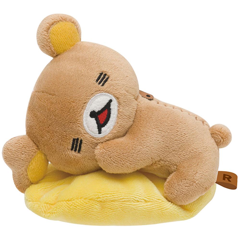 拉拉熊可愛生活表情系列毛絨小公仔。懶熊放鬆 San-X