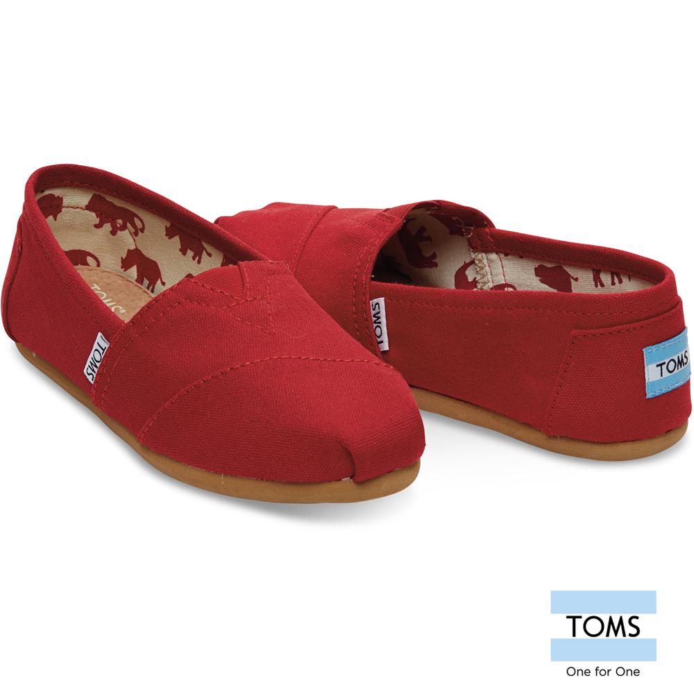 TOMS 帆布經典懶人鞋 女款(紅)