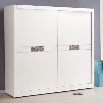 品家居 邁阿密5尺白色推門衣櫃-150x60x199cm-免組