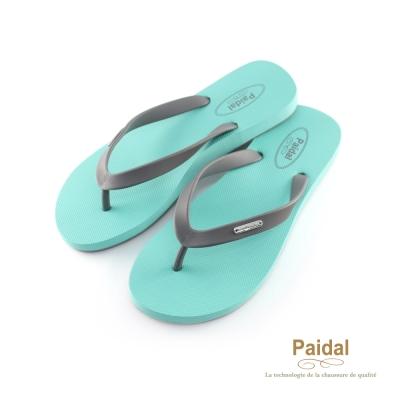 Paidal 糖果色足弓款海灘拖夾腳拖鞋-薄荷綠