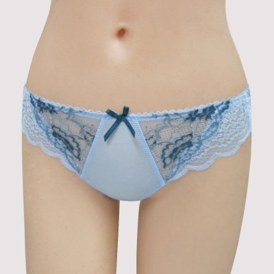 曼黛瑪璉-16SS包覆提托-雙弧  低腰三角無痕內褲(貝殼藍)