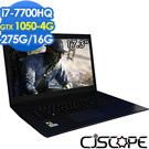 CJSCOPE SX-570GT 17吋電競筆電(i7-7700/GTX1050/275/nOS