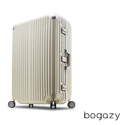 Bogazy 迷幻森林 29吋鋁框PC鏡面行李箱(時尚白)