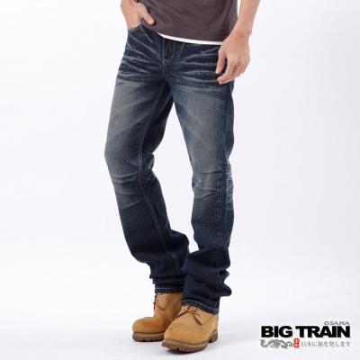 BIG TRAIN-軍帽骷髏小直筒-深藍