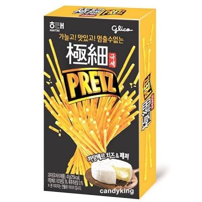 韓國PRETZ 極細餅乾棒-卡蒙貝兒奶酪&胡椒口味(47g)