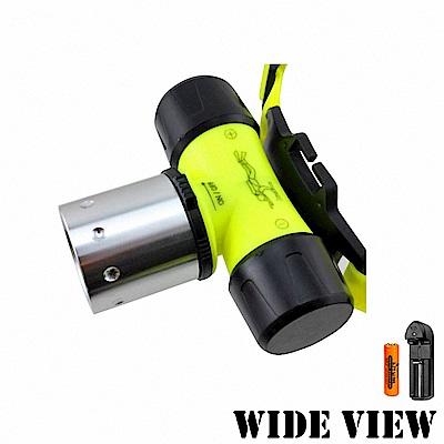 【WIDE VIEW】螢光U2潛水頭燈組(NZL-WU2-AT)