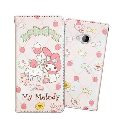 三麗鷗 My Melody HTC U Play 甜心彩繪磁扣皮套(草莓甜點)