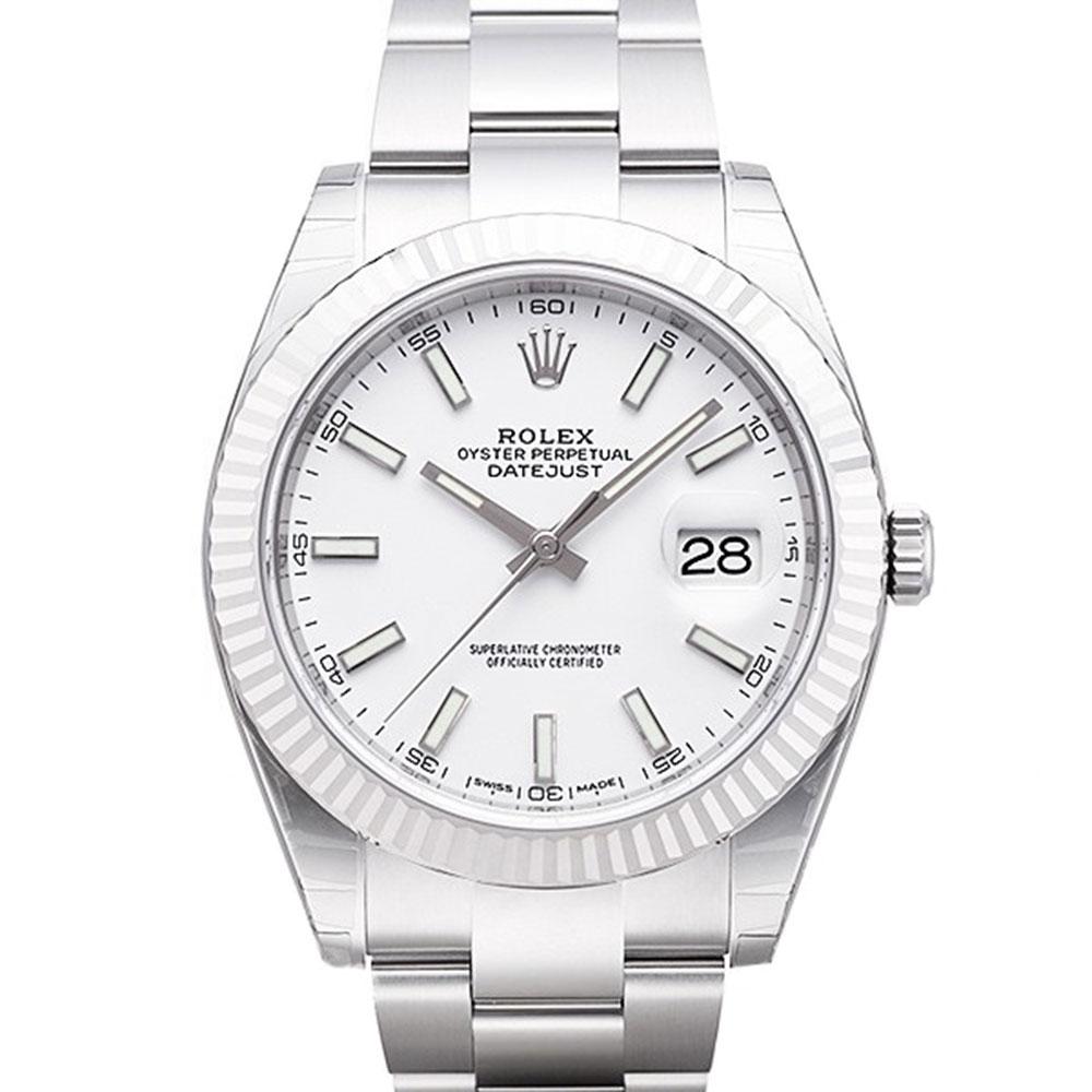 ROLEX 勞力士 Datejust 126334 日誌型板帶機械腕錶白x41mm