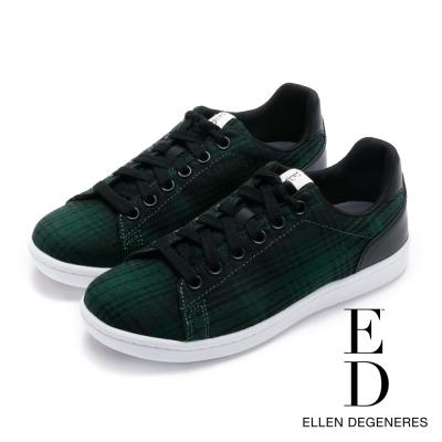 ED Ellen DeGeneres 拼接百搭綁帶休閒鞋-綠色