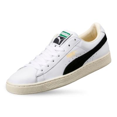 PUMA-Basket Classic 男女復古籃球運動鞋-白色