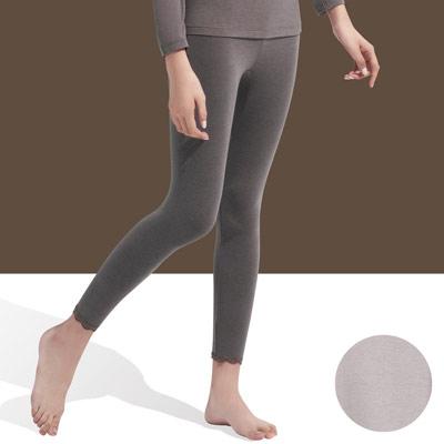 【華歌爾】中空保暖M-LL內搭8分褲(優雅灰)