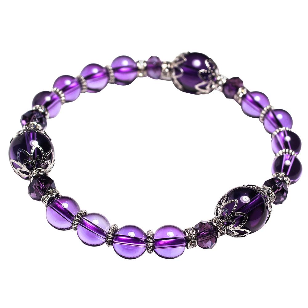 A1寶石 強力吸金招財晶鑽紫水晶手鍊