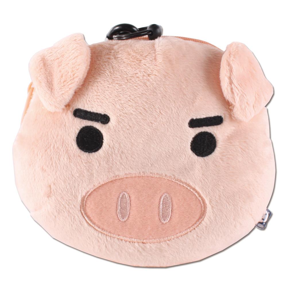 (任選)UNIQUE 可愛豬臉型車票包