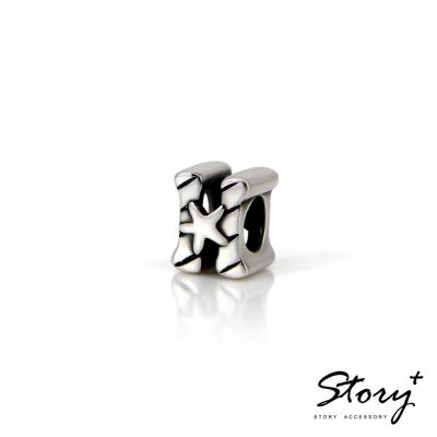 STORY故事銀飾-串珠墜飾-字母珠 H