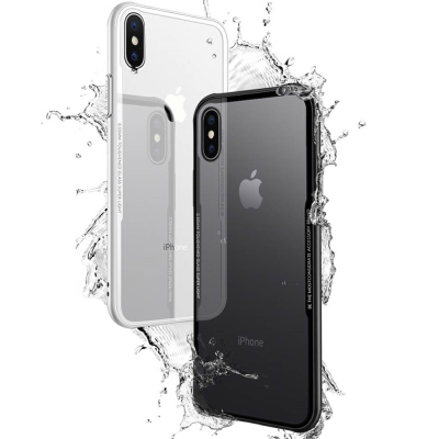透明殼專家iPhone X 蜂巢抗震邊框 玻璃背蓋防摔殼