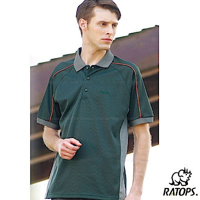 【瑞多仕-RATOPS】男 肩出芽格子布POLO衫_DB8029_墨綠/灰綠