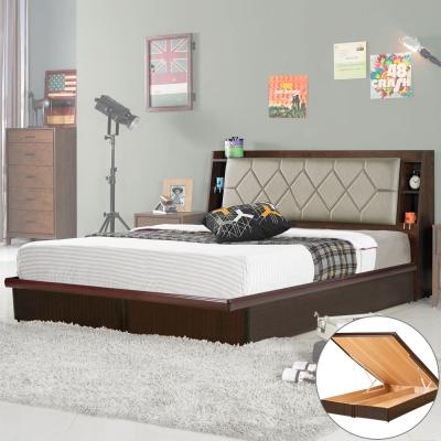 Homelike 艾倫 6 尺掀床組(含床頭箱)-雙人加大 6 尺
