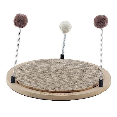 派斯威特-CATTYLEGO 貓咪樂購瓦愣圓盤貓撞台L 貓抓板玩具楞-PCT-2414