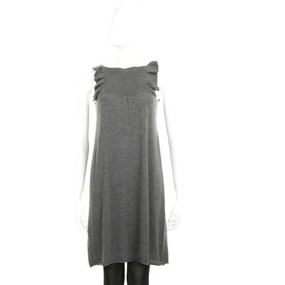 BRUNO MANETTI 灰色無袖荷葉邊洋裝