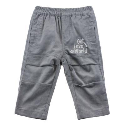 愛的世界 純棉機器人鬆緊帶條絨長褲/ 6 ~ 12 歲