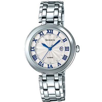 SHEEN 優雅羅馬施華洛世奇晶鑽時尚腕錶(SHE-4033D-7A)-白/30.5mm