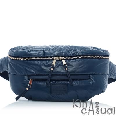 KINAZ casual 澎澎空氣斜背腰包-炫光藍-空氣漫步系列