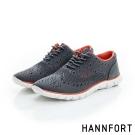 HANNFORT ZERO GRAVITY輕盈編織時尚牛津動能氣墊鞋-女-都會灰
