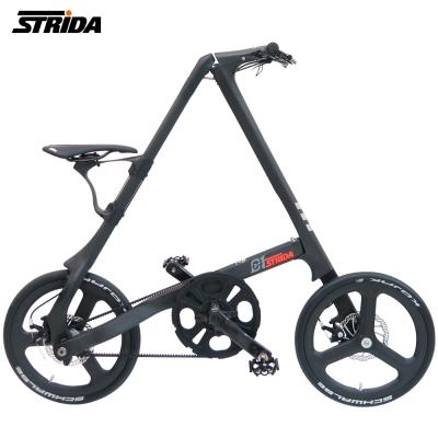 STRiDA 速立達 C1 碳纖維Carbon手工折疊碟煞單車-消光黑