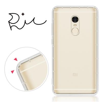 RedMoon Xiaomi 紅米 NOTE4 防摔氣墊透明TPU手機軟殼(標準...
