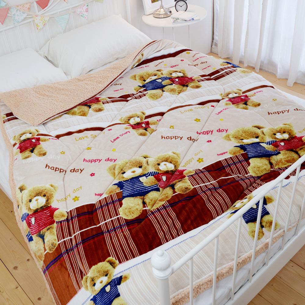 絲薇諾 寶貝熊 羊羔法蘭絨被/單人-150×200cm