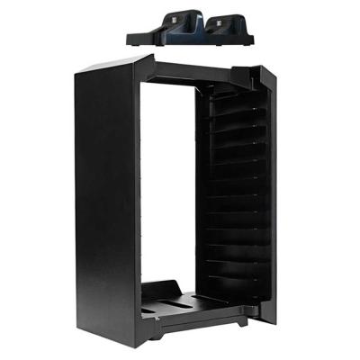 PS4 精選組 雙手把座充+2合1 多功能底座(主機直立架+碟片槽)