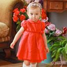 Annys高級玫瑰公主袖手工緞紗禮服*7201紅