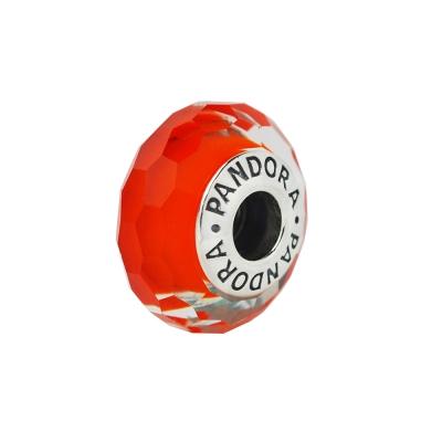 Pandora 潘朵拉 切割面琉璃墜-橘色