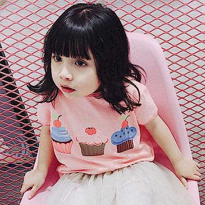 Baby unicorn 粉紅杯子蛋糕短袖上衣