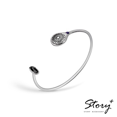 STORY-脈輪系列-頂輪Crown Chakra純銀手環