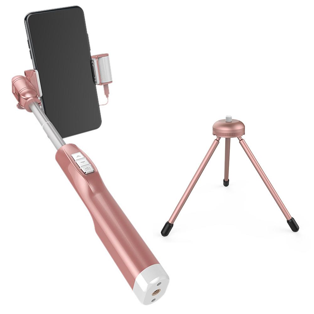 A8 上下雙補光 後視鏡線控自拍棒 手機 自拍伸縮棒 3.5mm接頭 美顏神器 贈三腳架