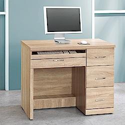 Bernice-安格斯3.2尺三抽電腦書桌/工作桌-96x54x78cm