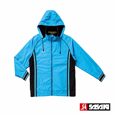 SASAKI 多功能保暖熱身運動夾克-男-鮮藍/黑