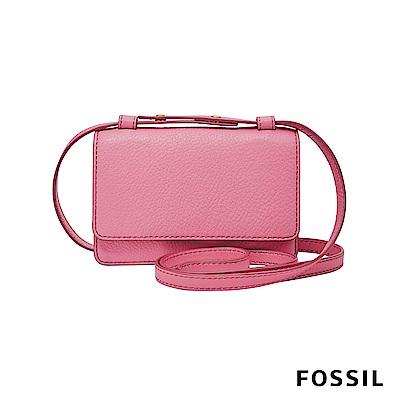 FOSSIL MILA 真皮小方包-草莓牛奶