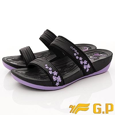 GP時尚涼拖-花漾夾腳拖鞋款-EI527W-41紫(女段)